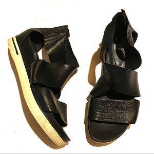 Eileen Fisher Sport Platform Leather Sandal 8.5